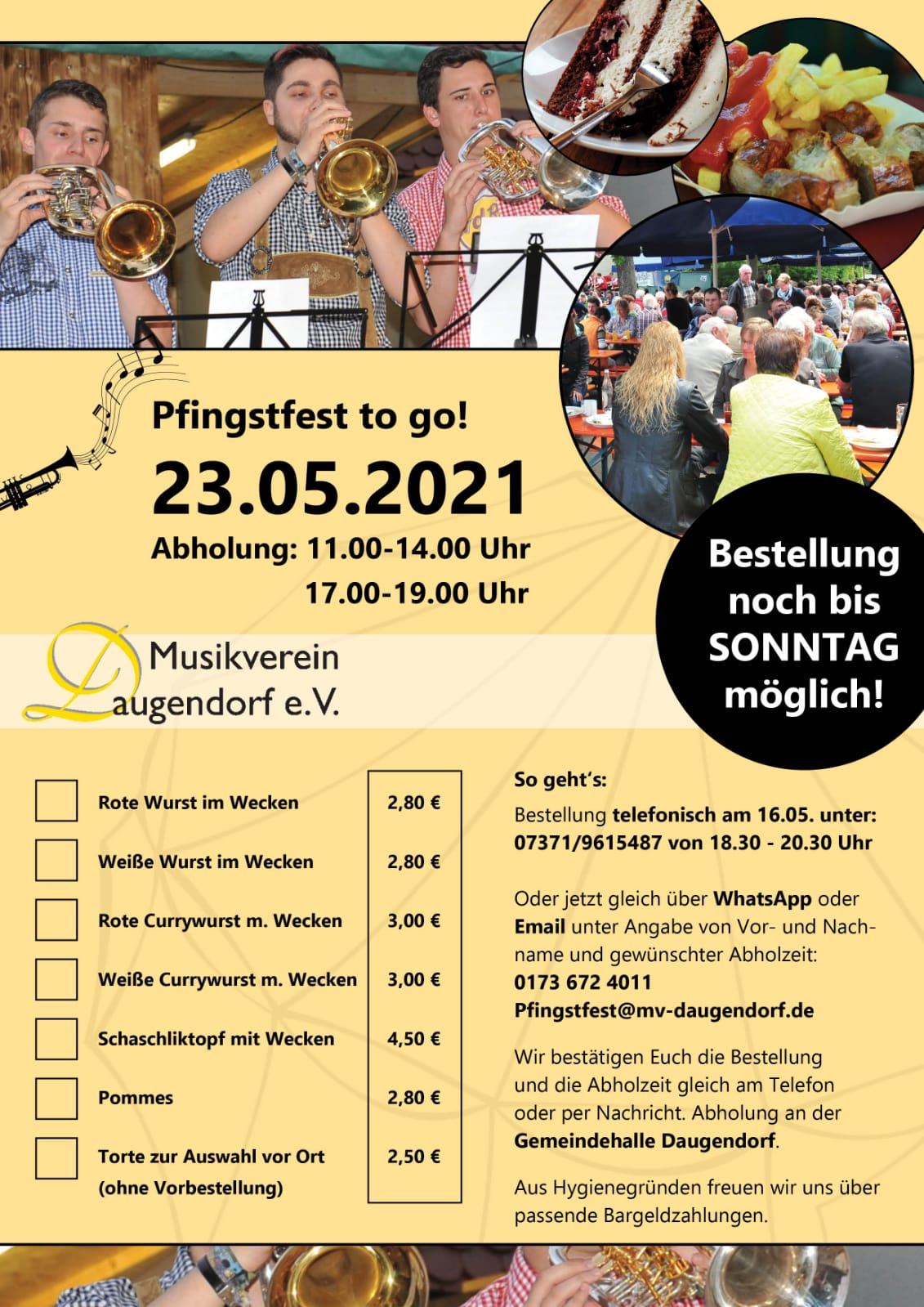 Pfingstfest to go Aktion
